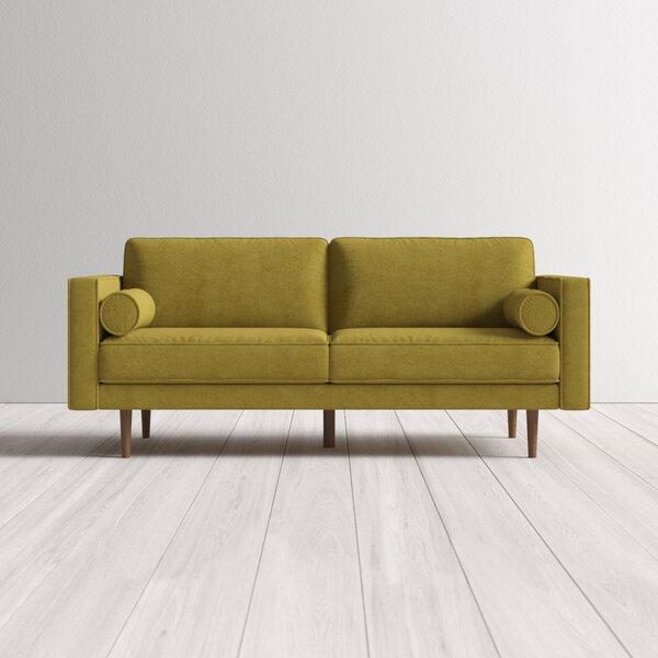 Simmons Flannel Charcoal Sofa