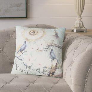 Benevides Bird Cage Flower Throw Pillow