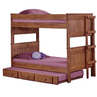 Erickson Stackable Twin Over Twin Bunk Bed with Trundle By Harriet Bee