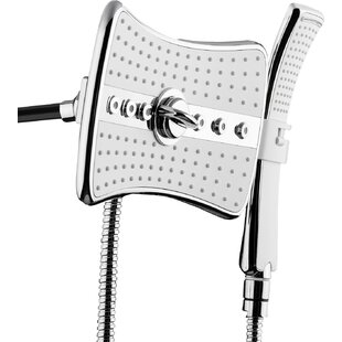 Rainfall 3 Piece Handheld Shower Head Wand Set by AKDY