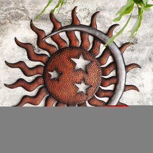 Sun And Moon Wall Decor sun and star outdoor wall décor you'll love | wayfair