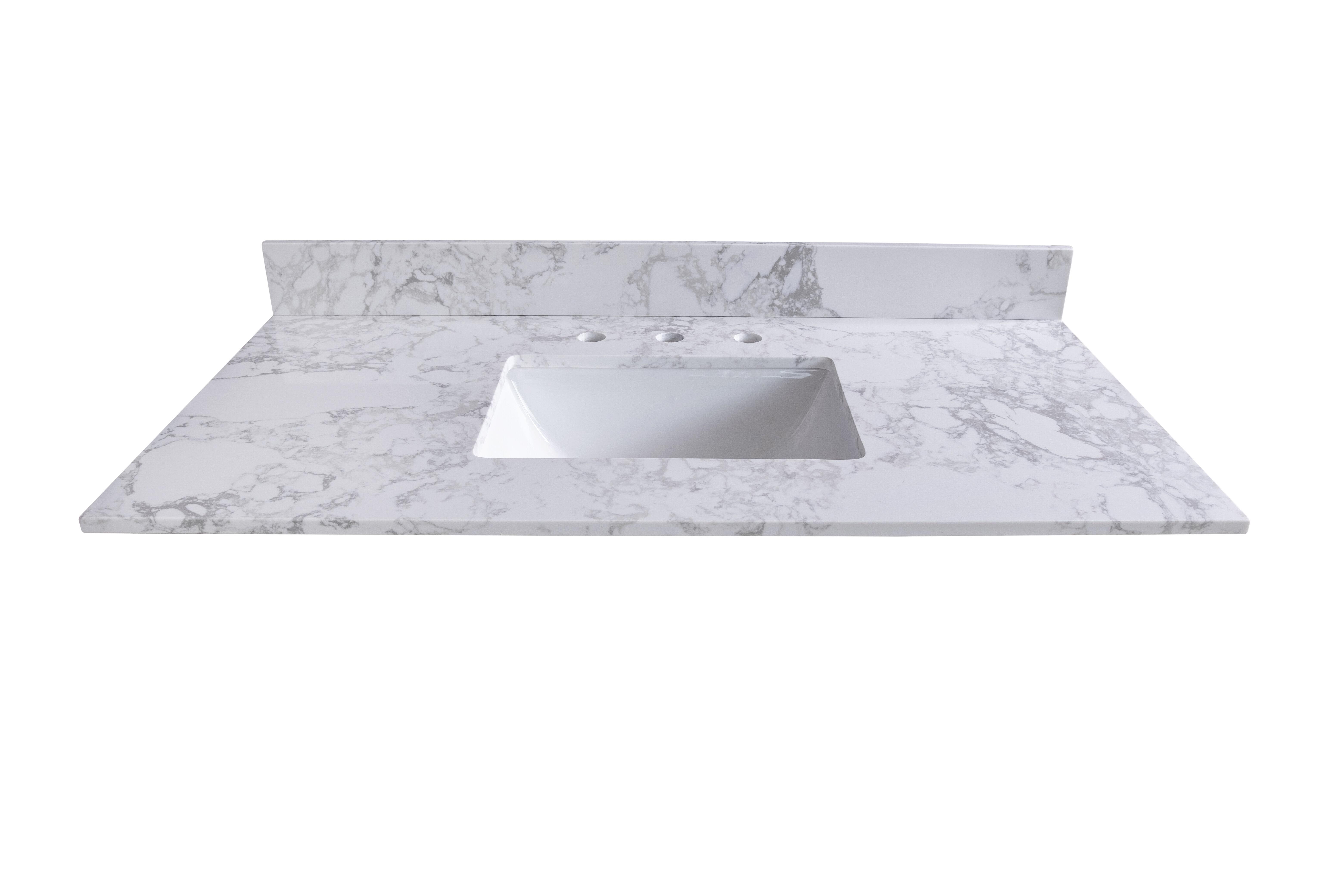 Kinwell 49 Single Bathroom Vanity Top In White With Sink Wayfair