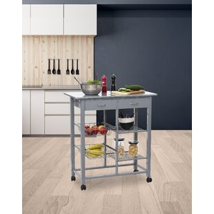 Clive Kitchen Trolley With Manufactured Wood Top By Belfry Kitchen