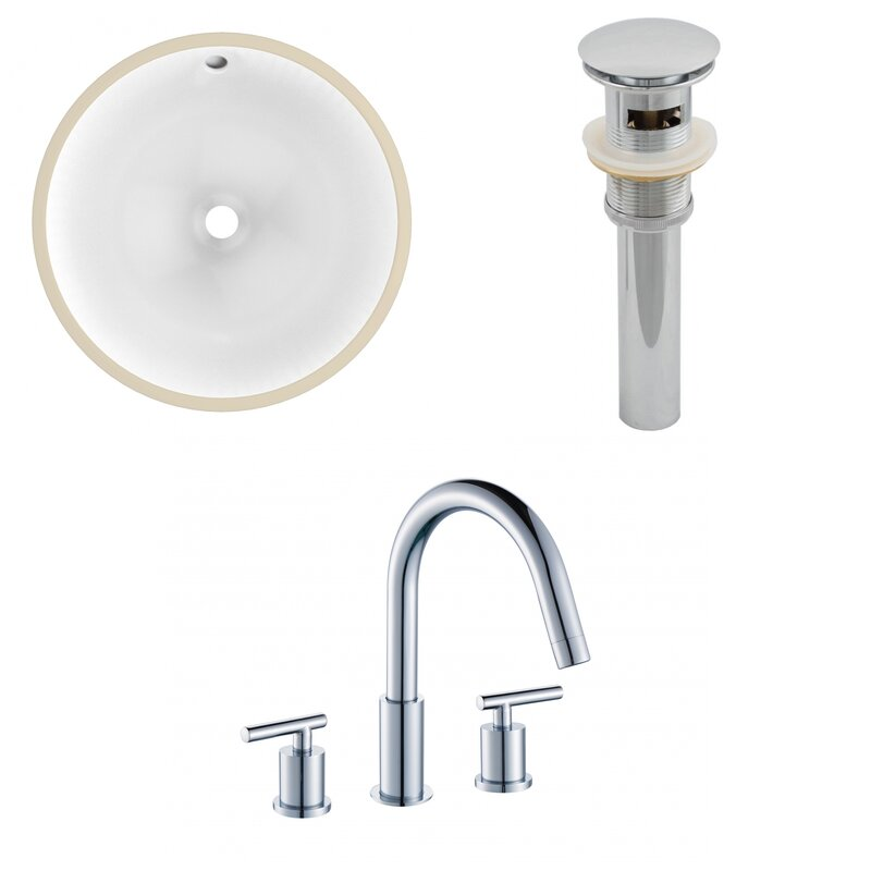 Avanities Ceramic Circular Undermount Bathroom Sink With Faucet And Overflow Wayfair