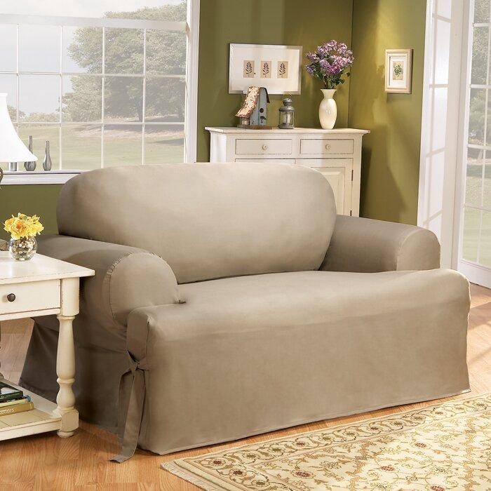 Cotton Duck T Cushion Sofa Slipcover Part 69