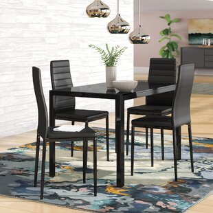 Zaugg 5 Piece Dining Set Orren Ellis
