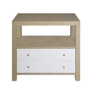 2 Drawer End Table with Storage