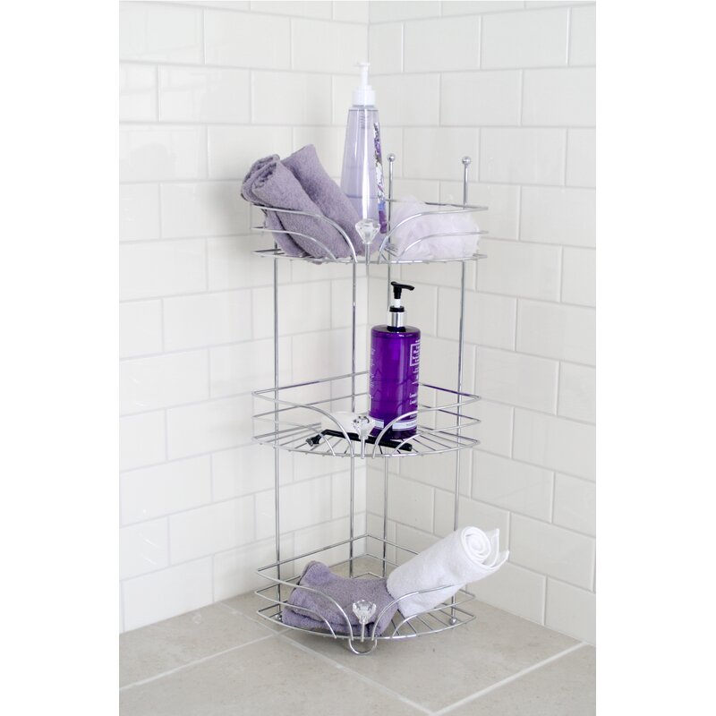 Rebrilliant Cecilia Corner Shower Caddy | Wayfair