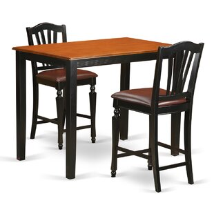 Yarmouth 3 Piece Counter Height Pub Table Set East West Furniture