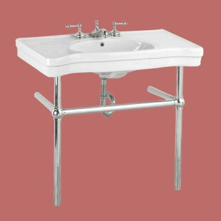 Belle Epoque Deluxe Vitreous China 20 Console Bathroom Sink with Overflow by The Renovators Supply Inc.
