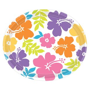 Summer Hibiscus Oval Paper Plate (Set of 18)  sc 1 st  Wayfair & Oval Paper Plates | Wayfair