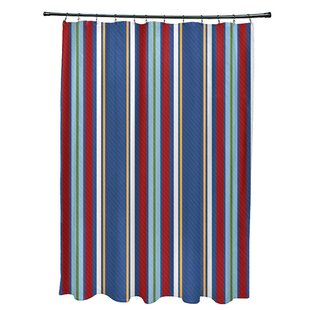 Breakwater Bay Petersfield Multi-Stripe Shower Curtain