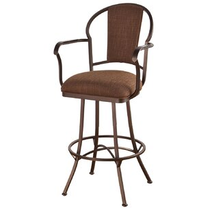 Hoyos 30 Swivel Bar Stool Red Barrel Studio