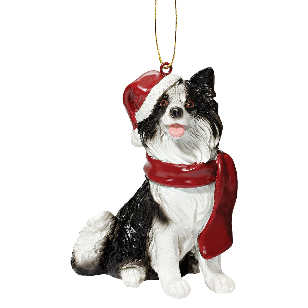 Border Collie Dangling Legs Ornament Pet Dog Holiday Christmas Tree Decoration