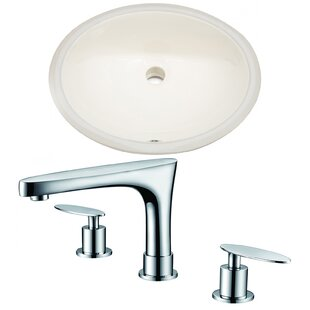 Best Reviews CUPC Ceramic Oval Undermount Bathroom Sink with Faucet and Overflow By American Imaginations