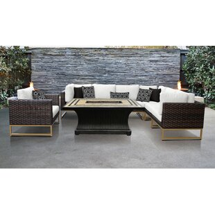 Barcelona Outdoor 8 Piece Sectional Seating Group with Cushions