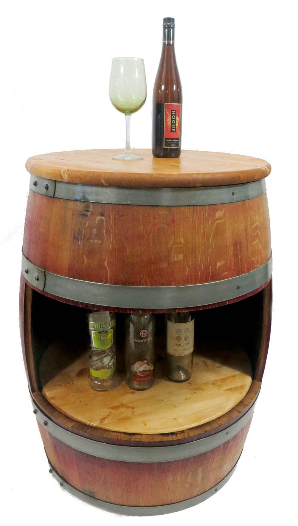 Millwood Pines Aenwood Wine Barrel Counter Bar Cabinet Wayfair
