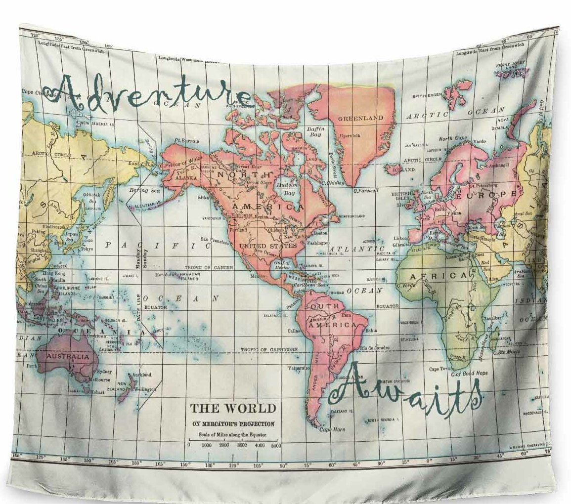 Adventure Awaits World Map by Catherine Holcombe Tapestry on world map tapestry urban outfitters, world map paintings, world map dresses, world map bedroom decor, world map blankets, world map patterns, world map canvas, world map mirrors, world map souvenirs, world map pillows, world map t-shirts, world map watercolors, world map calligraphy, world map wallpaper, world map photography, world map vases, world map drawings, world map tiles, world map gold, world map scarves,