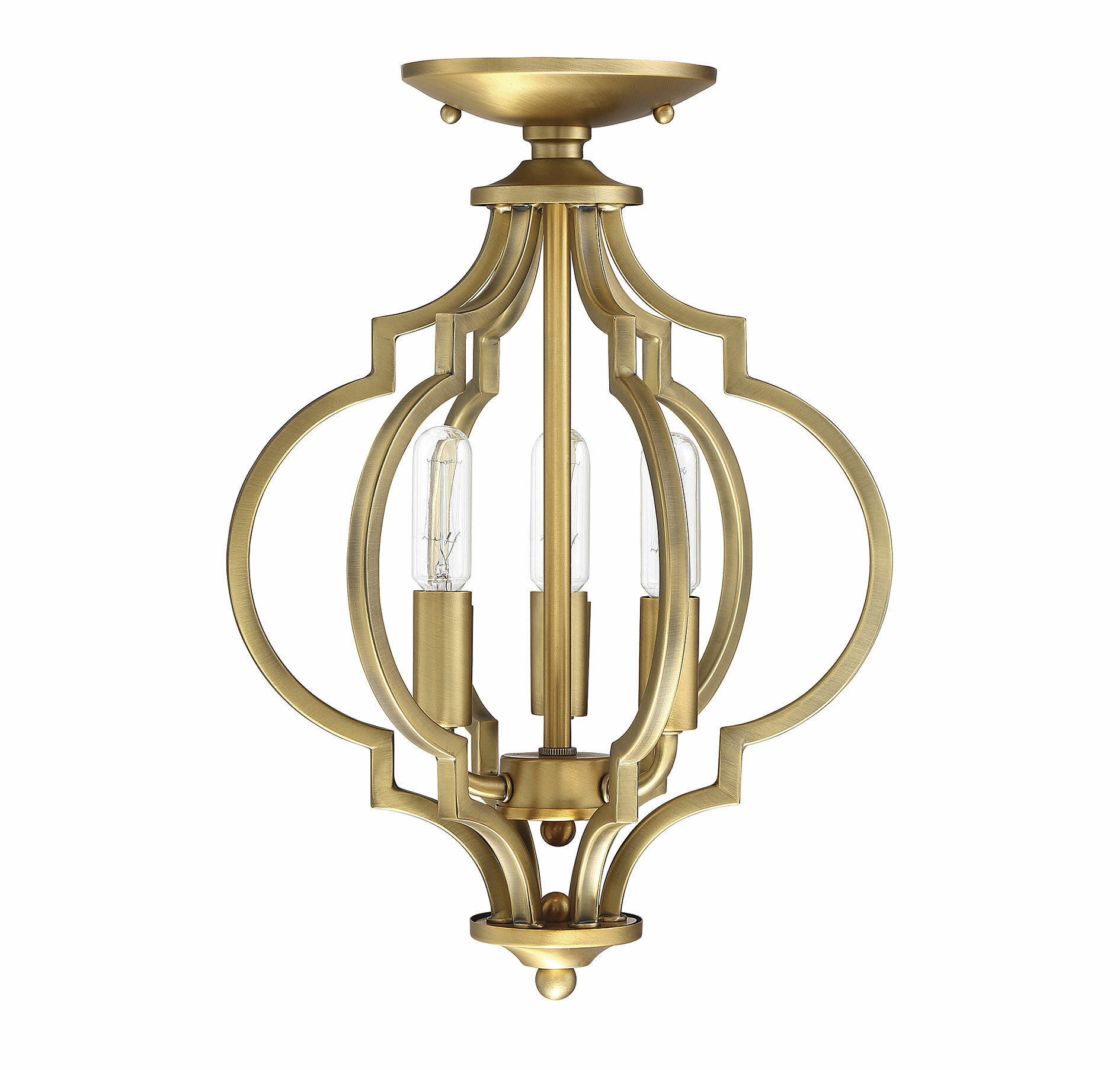 House Of Hampton Millis 3 Light 11 Chandelier Style Geometric Semi Flush Mount Reviews Wayfair