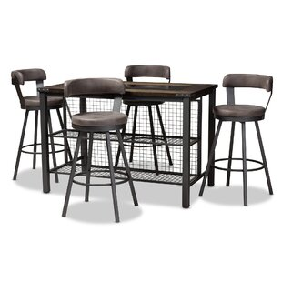 Flint 5 Piece Dining Set Williston Forge