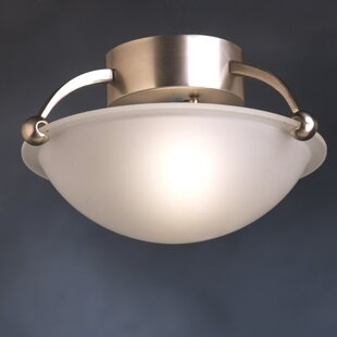 Erin 1-Light Semi Flush Mount by Winston Porter