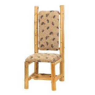 Fireside Lodge Traditional Cedar Log High Back Side Chair