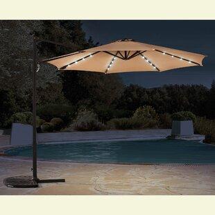 Kulikowski 9.5' Cantilever Umbrella with Lights by Latitude Run