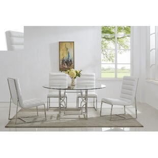 Uday 5 Piece Dining Set Everly Quinn