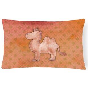 camel watercolor lumbar pillow - Camel Color