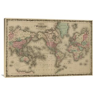 World map push pin wayfair world map print on canvas gumiabroncs Image collections