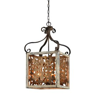 Georgine 4-Light Lantern Pendant by World..