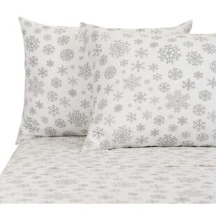 Prime 4 Piece Snowflakes Floral Sheet Set