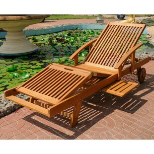 Beachcrest Home Joaquin Balau Outdoor Chaise Lounge