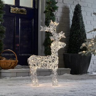 Christmas Standing Reindeer Lighted Display Image