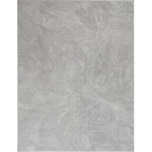 Qichen Outstanding Modern Solid Light Gray Area Rug