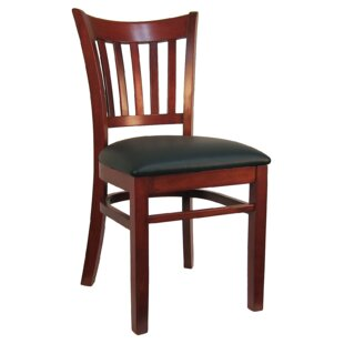 H&D Restaurant Supply, Inc. Open Vertical Back Wood Upholstered Dining Chair (Set of 2)