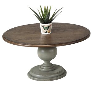 Serpentaire Round Pedestal Coffee Table by L..