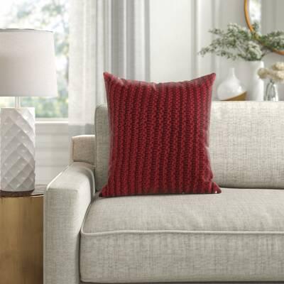 Dumais Handwoven Square Cotton Throw Pillow Reviews Joss Main