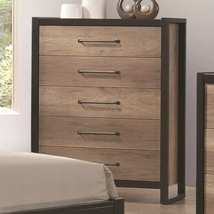 Tavion 5 Drawers Chest by Williston Forge Savings