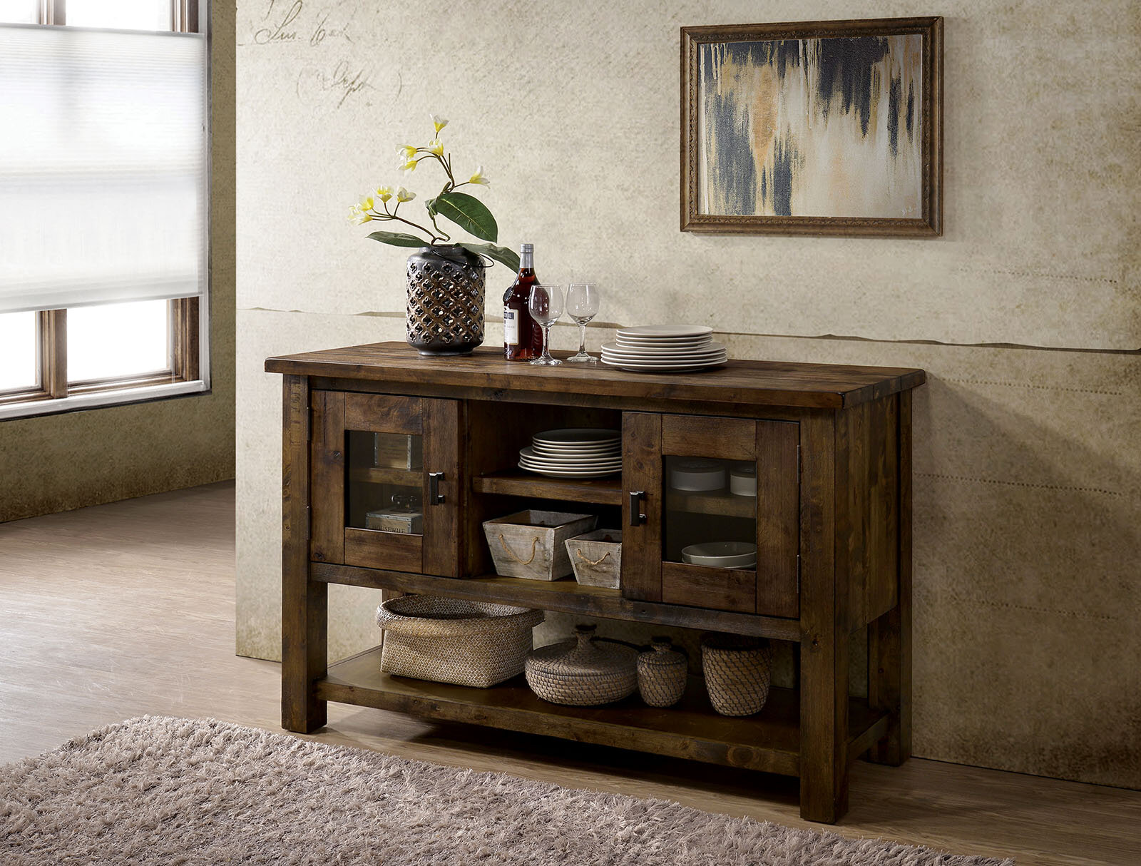 Picture of: Loon Peak Brickhouse Buffet Table