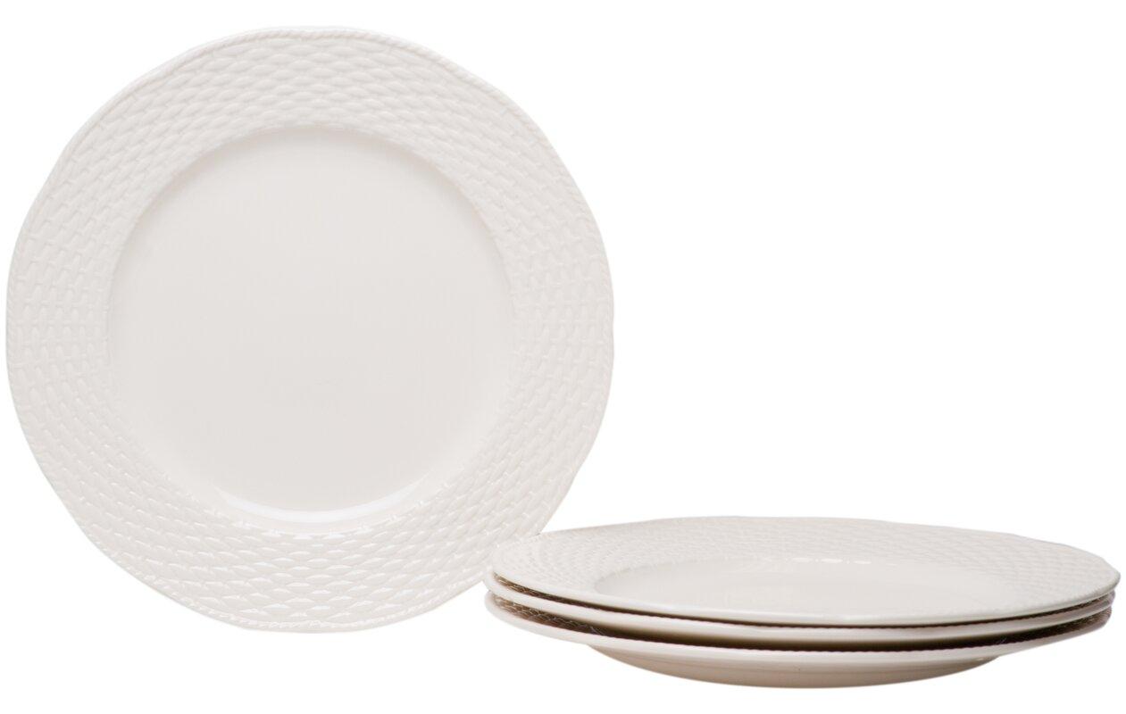 Nantucket White 11.25\  Dinner Plates  sc 1 st  Wayfair & Red Vanilla Nantucket White 11.25\