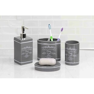 Affordable Price Paris 4-Piece Bathroom Accessory Set By Home Basics