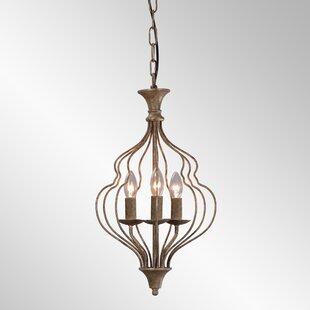Bungalow Rose Gaeta 3-Light Lantern Pendant