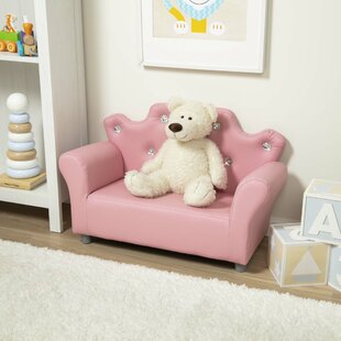 Child's Crown Faux Leather Sofa by Melissa & Doug