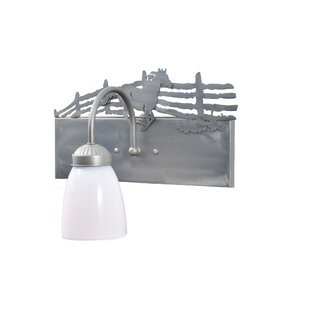 Meyda Tiffany Running Horse Right 1-Light Bath Sconce