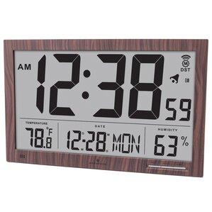 slim jumbo atomic wall clock