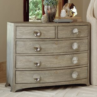 Bow Front 5 Drawer Chest by Global Views New