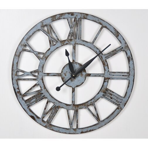 Crowe Oversized Industrial Style 24 in. Wall Clock
