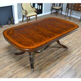 Cearley Mahogany Solid Wood Dining Table by Canora Grey