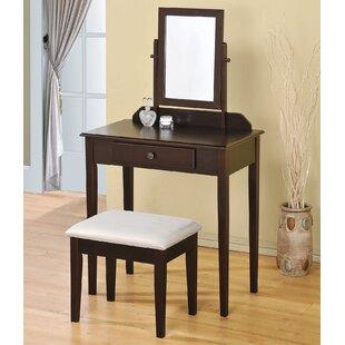 Jamy Vanity Set with Mirror by A&J Homes Studio